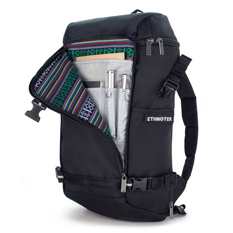 Ethnotek-premji-travel-daypack-black-organizer-pocket