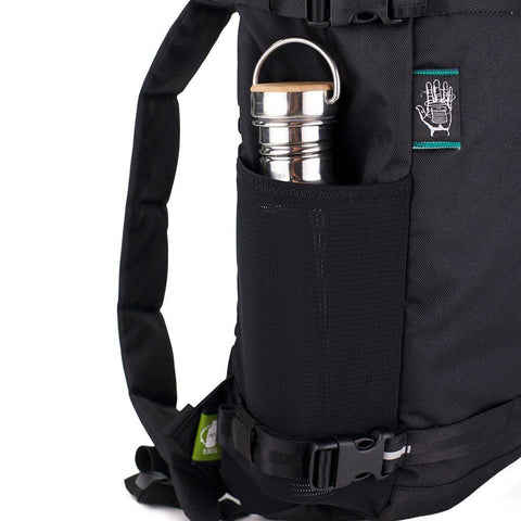 Ethnotek-premji-travel-daypack-black-water-bottle-pocket