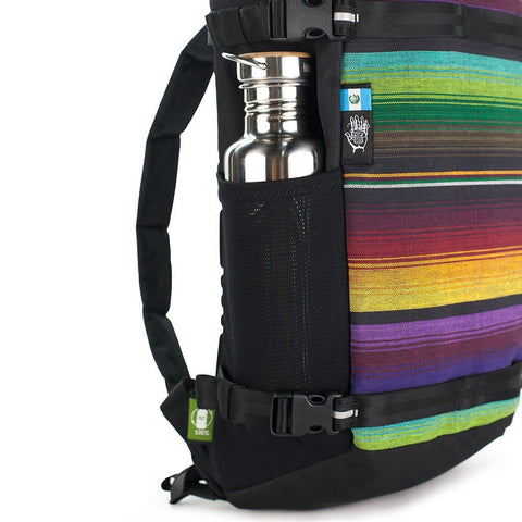 Ethnotek-premji-travel-daypack-guatemala1-multicolor-water-bottle-pocket