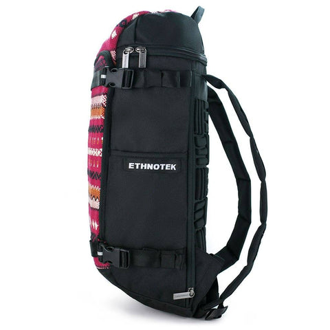 Ethnotek-premji-travel-daypack-india11-red-recycled-fabric