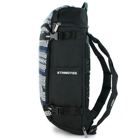 Ethnotek-premji-travel-daypack-india14-blue-and-white-recycled-fabric