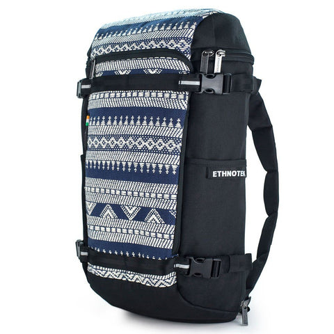 Ethnotek-premji-travel-daypack-india14-blue-and-white-vegan