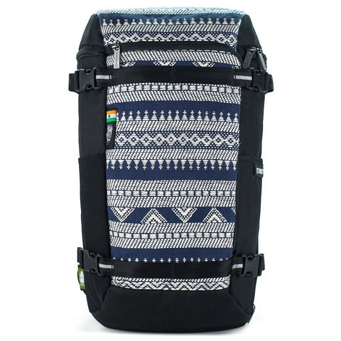 Ethnotek-premji-travel-daypack-india14-blue-and-white-waterproof