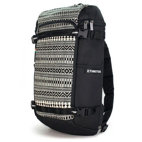 Ethnotek-premji-travel-daypack-india8-black-and-white-vegan