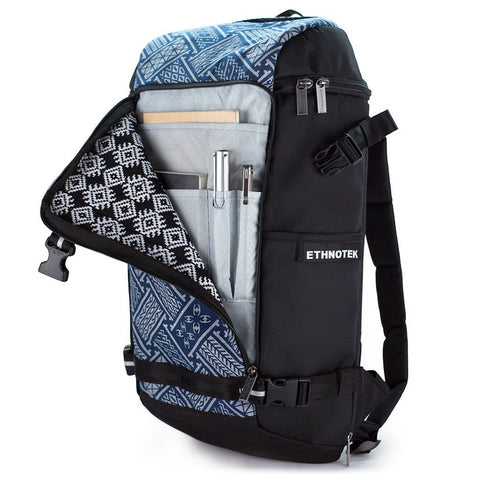 Ethnotek-premji-travel-daypack-indonesia6-blue-pattern-organizer-pocket