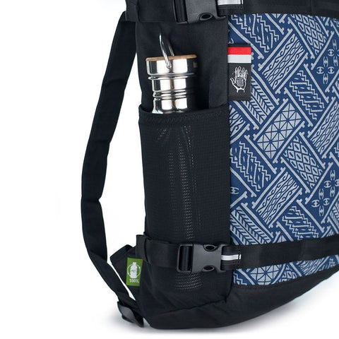 Ethnotek-premji-travel-daypack-indonesia6-blue-pattern-water-bottle-pocket