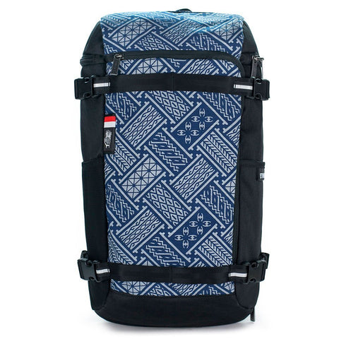 Ethnotek-premji-travel-daypack-indonesia6-blue-pattern-waterproof aktive-indonesia hover-indonesia