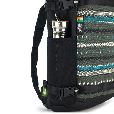 Ethnotek-premji-travel-daypack-vca-grey-water-bottle-pocketvca-gray
