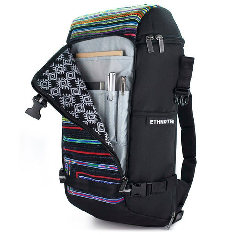 Ethnotek-premji-travel-daypack-vietnam6-blue-and-orange-organizer-pocket