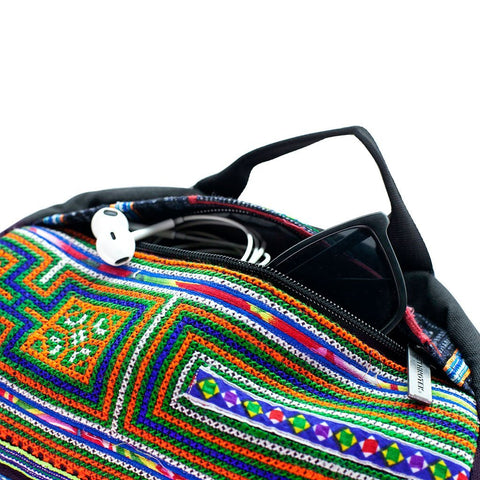 Ethnotek-premji-travel-daypack-vietnam6-blue-and-orange-sunglass-pocket