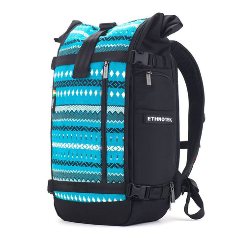 Ethnotek-raja-30-liter-backpack-aqua-blue-waterproofvca-blue