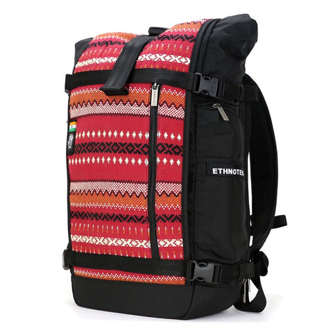 Ethnotek-raja-30-liter-backpack-india11-red-red-waterproof
