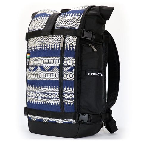 Ethnotek-raja-30-liter-backpack-india14-blue-and-white-blue-and-white-waterproof