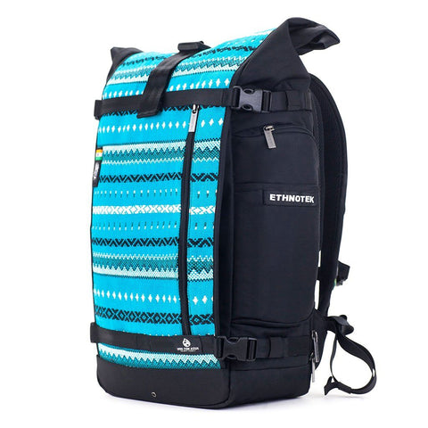 Ethnotek-raja-46-unique-travel-backpack-aqua-blue-waterproofvca-blue