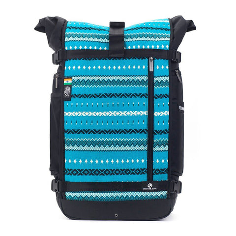 Ethnotek-raja-46-unique-travel-backpack-aqua-bluevca-blue aktive-vca-blue hover-vca-gray
