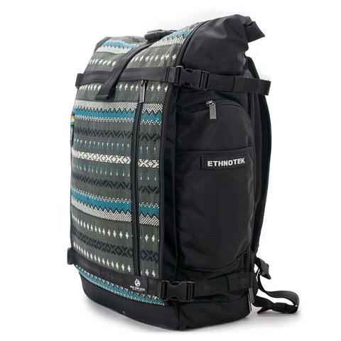 Ethnotek-raja-46-unique-travel-backpack-charcoal-gray-waterproofvca-gray
