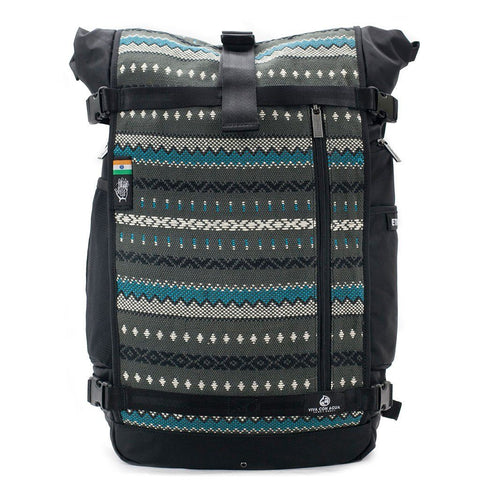 Ethnotek-raja-46-unique-travel-backpack-charcoal-grayvca-gray aktive-vca-gray hover-vca-blue