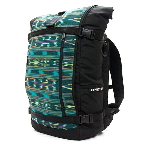 Ethnotek-raja-46-unique-travel-backpack-guatemala4-teal-green-teal-green-waterproof