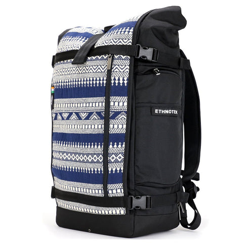 Ethnotek-raja-46-unique-travel-backpack-india14-blue-and-white-blue-and-white-waterproof