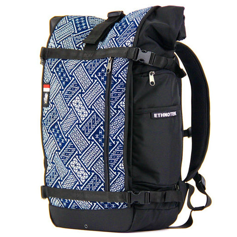 Ethnotek-raja-46-unique-travel-backpack-indonesia6-blue-pattern-blue-pattern-waterproof