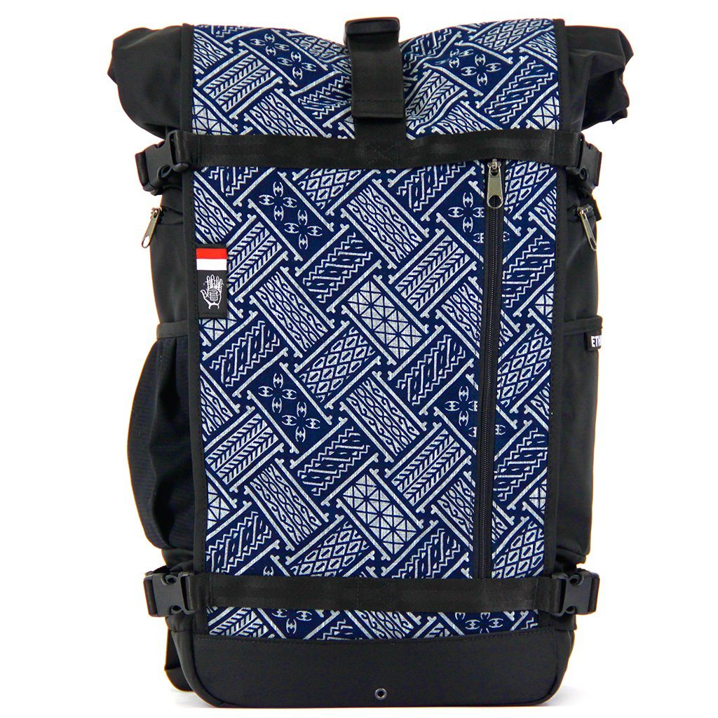Ethnotek-raja-46-unique-travel-backpack-indonesia6-blue-pattern-blue-pattern - indonesia-6 aktive-indonesia hover-indonesia