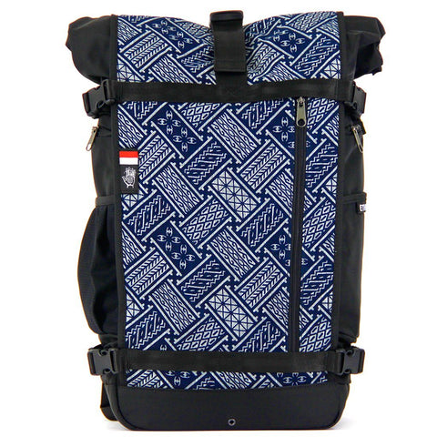 Ethnotek-raja-46-unique-travel-backpack-indonesia6-blue-pattern-blue-pattern aktive-indonesia hover-indonesia