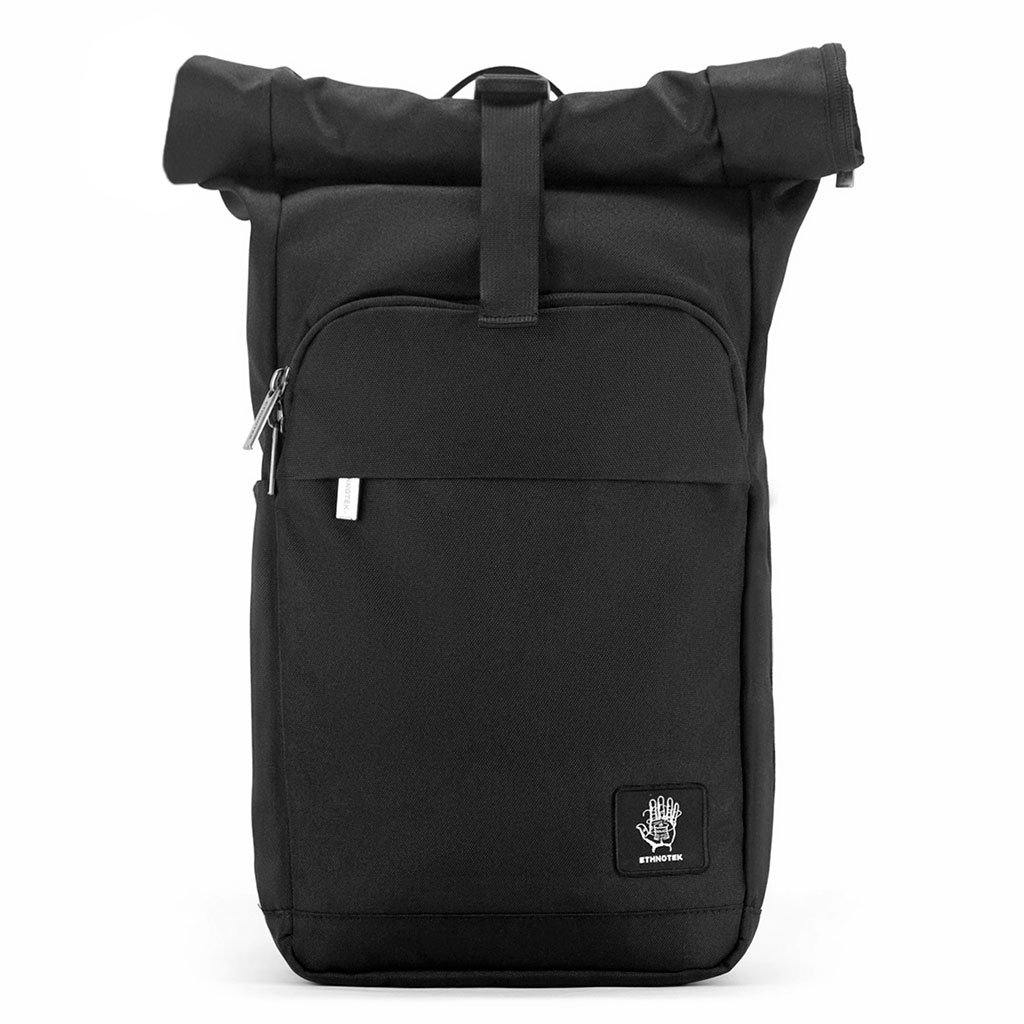 Ethnotek-urban-everyday-backpack-black-vegan - eco-black