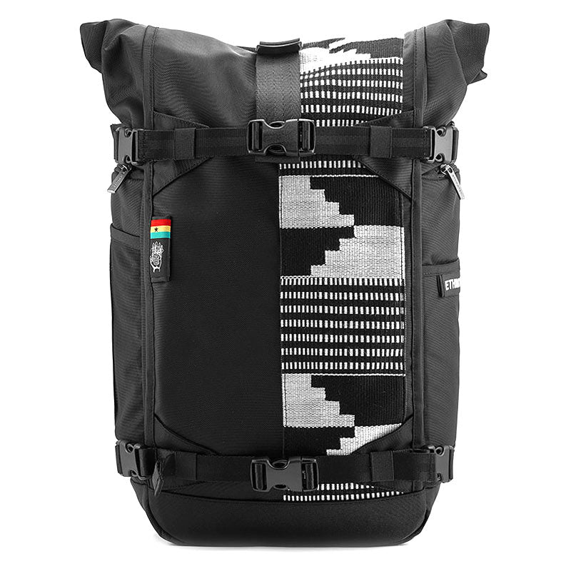 Ethnotek-raja-46-unique-travel-backpack special edition ghana-kente