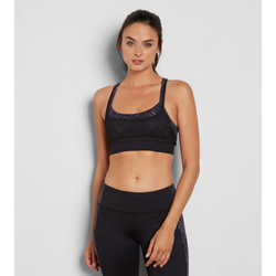 THREADS FOR THOUGHT NIKA SPORTS BRA - BLACK