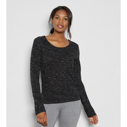 THREADS4THOUGHTS AISHA LAYERED TOP - BLACK