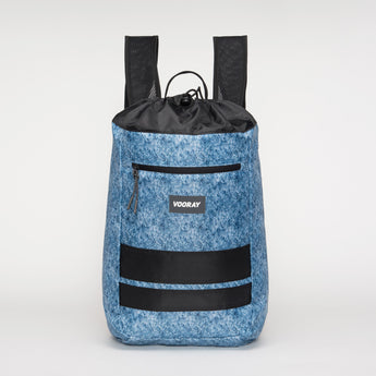 VOORAY STRIDE CINCH BACKPACK - STONE BLUE STRIPE