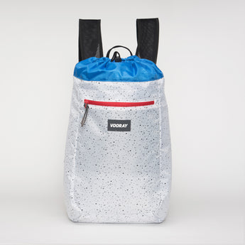 VOORAY STRIDE CINCH BACKPACK - WHITE SPECKLE