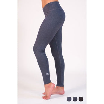 HALLOW+PLANK MAUGERI LONG LEGGINGS - HEATHER NAVY
