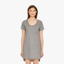 ALEXIS MERA TEE DRESS - GREY HEATHER