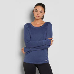 THREADS 4 THOUGHT ZABRINA LONG-SLEEVES TEE - INDIGO