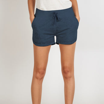 Threads for Thought Greta Dolphin Shorts Indigo