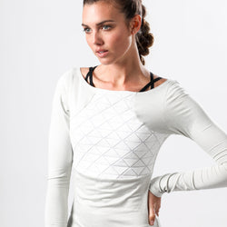 ROIC+BRU TRIGAMI TOP - WHITE