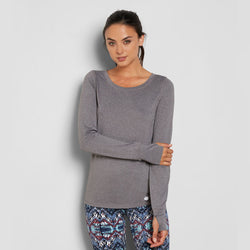 THREADS 4 THOUGHT ZABRINA LONG-SLEEVES TEE - HEATHER