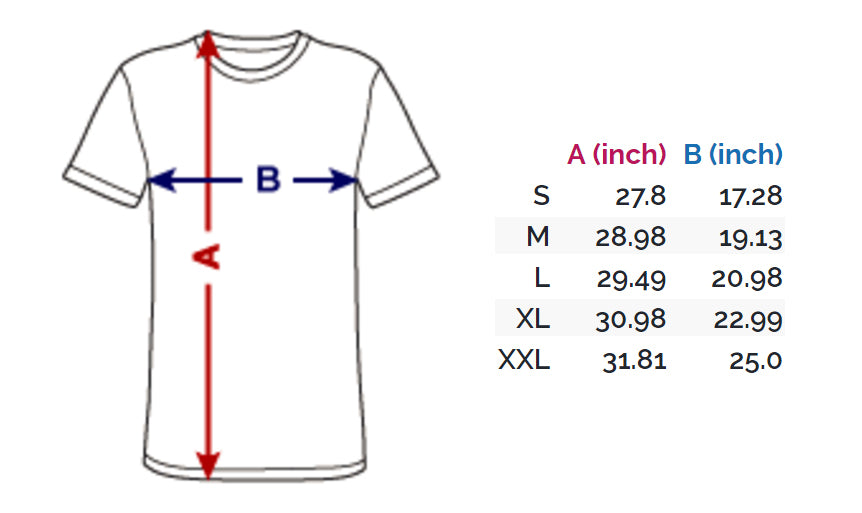 Vintage Tee Size Guide