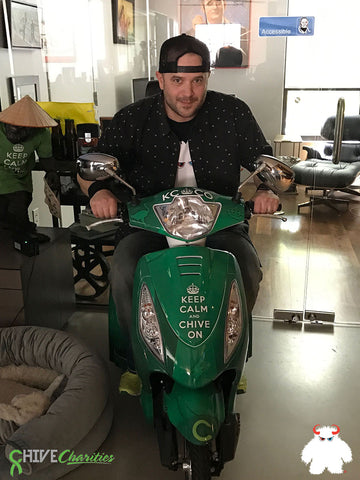 Brad on John's Scooter