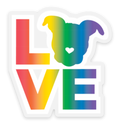 Pit Bull Love Rainbow Sticker - Large | The Gentle Pit