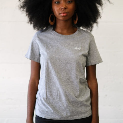 Embroidered Crew Tee // Athletic Grey