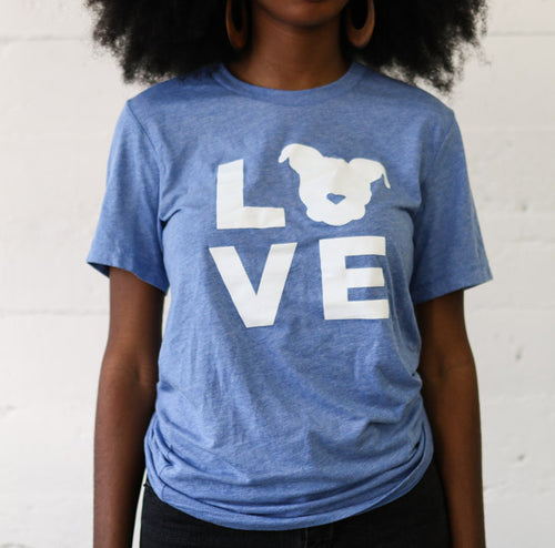 LOVE Tee // Blue Triblend
