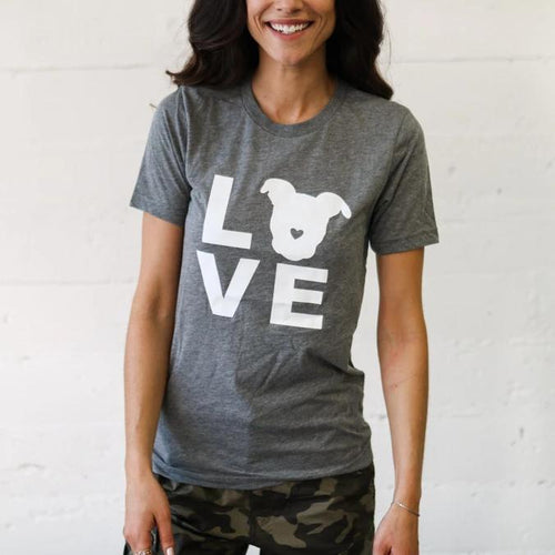 LOVE Tee // Grey Triblend