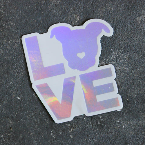 Holographic Love Sticker