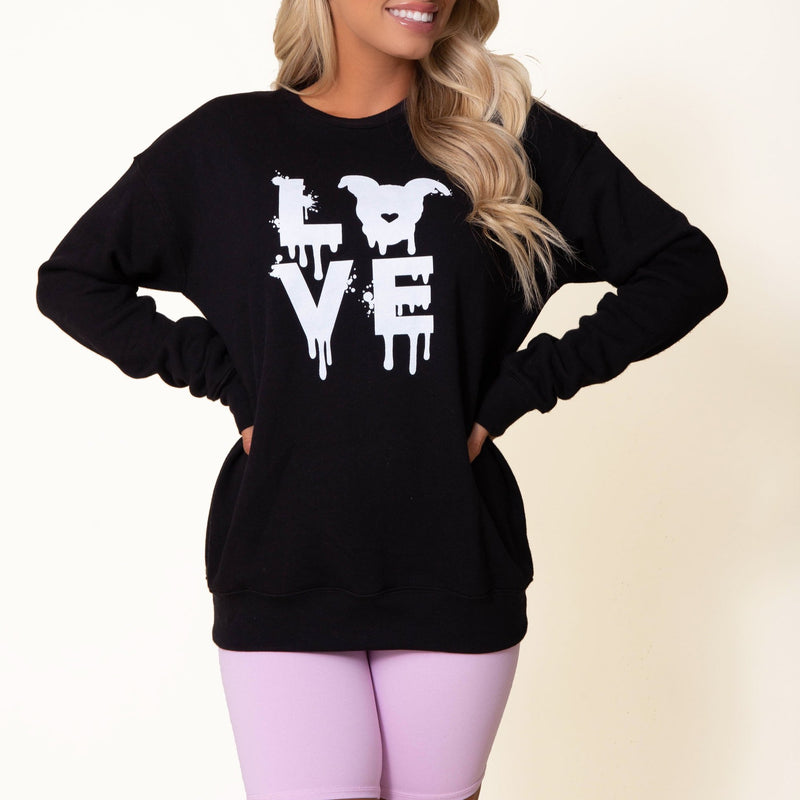 Drippy LOVE Sweatshirt // Black