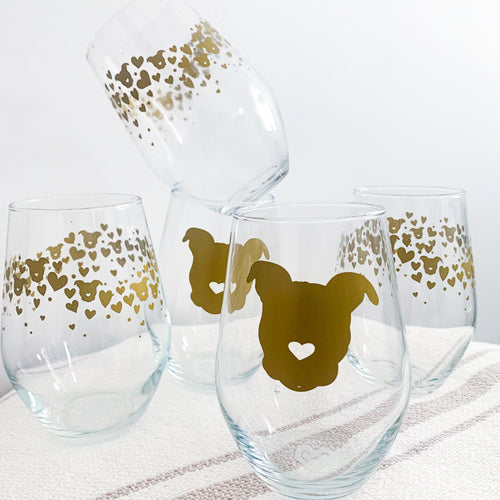 Stemless Wine Glass // 2 Designs