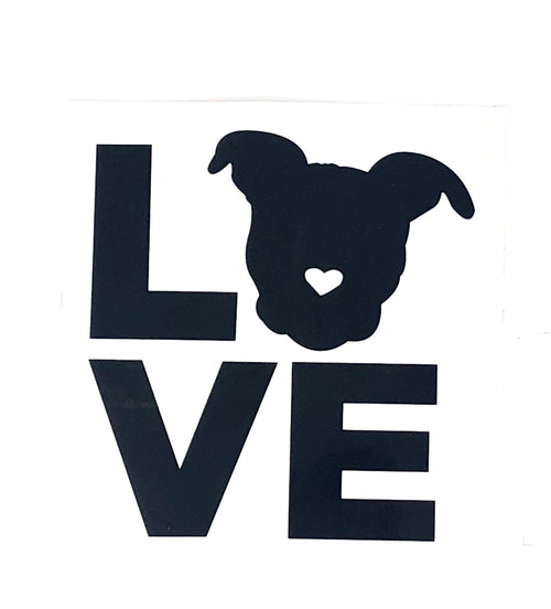 Love Black Sticker // Small