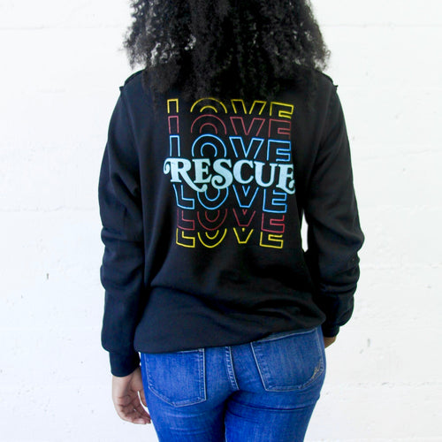 Love Rescue Raw Seam Sweatshirt