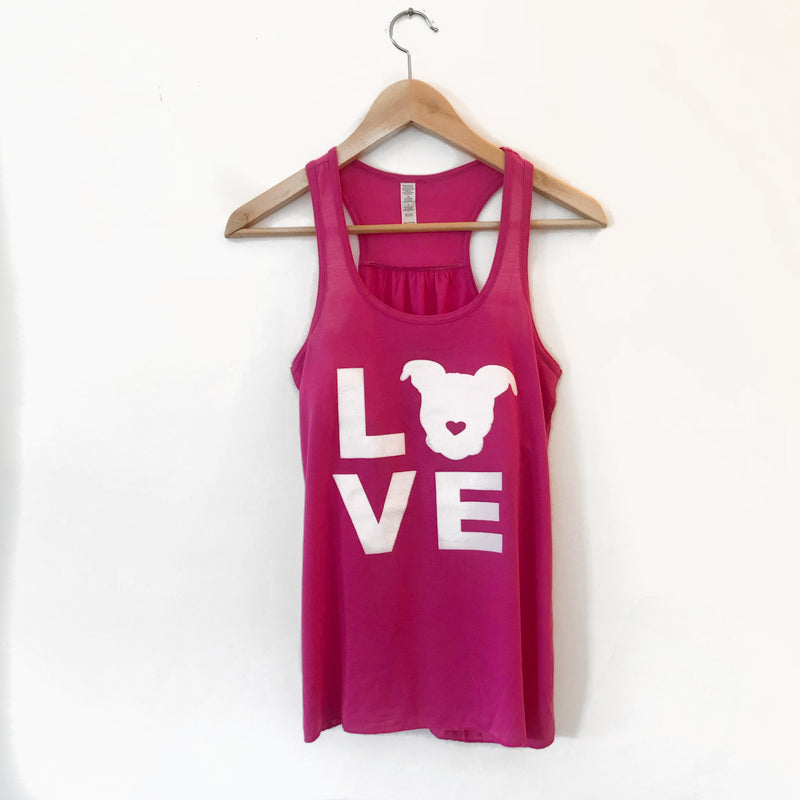 LOVE Racerback // Berry